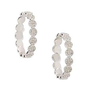 KATE SPADE • Silver Gatsby Dot Hoop Earrings
